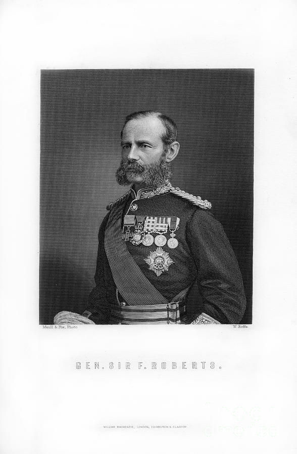 General Sir Frederick Roberts Drawing by Print Collector