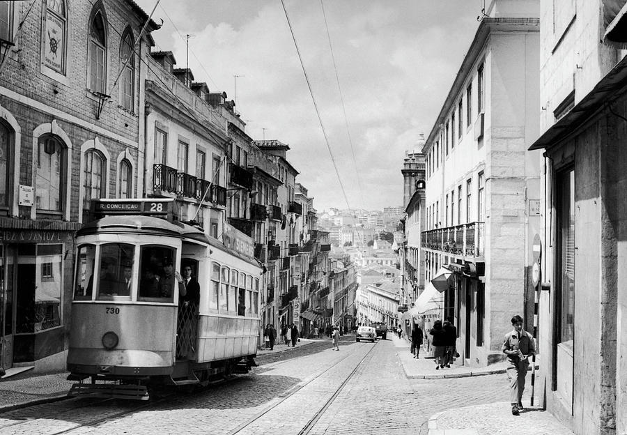 General View Of A Street In Lisbon In Photograph by Keystone-france