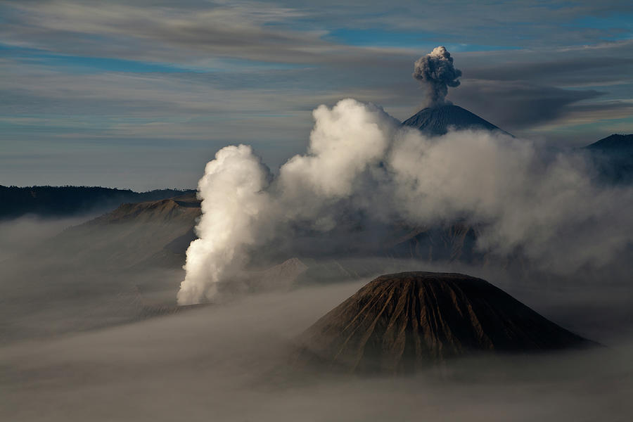 General View Of Mt. Bromo Photograph by Athit Perawongmetha