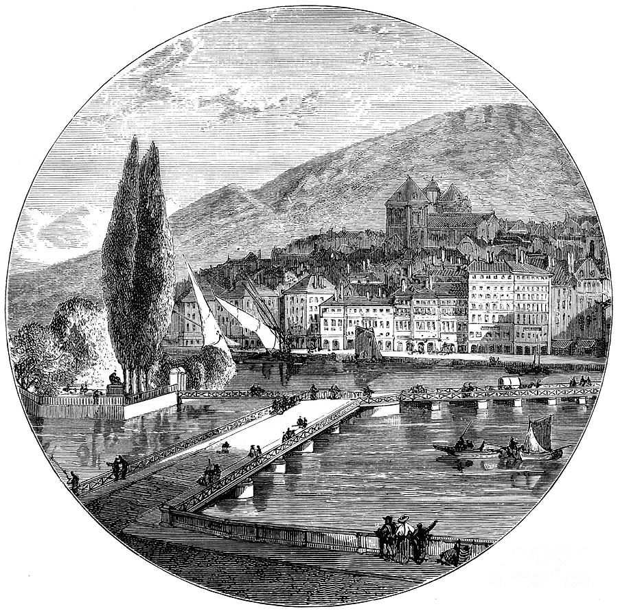 Geneva, Switzerland, 1900 Drawing by Print Collector