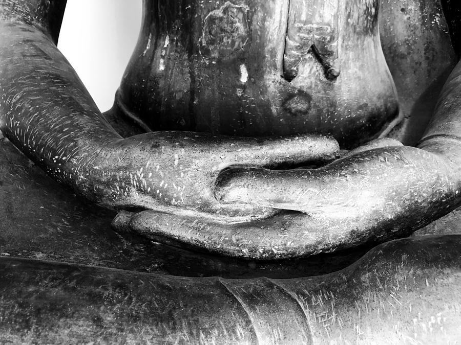 Buddha Photograph - Gentle Buddha Hands by Georgia Fowler
