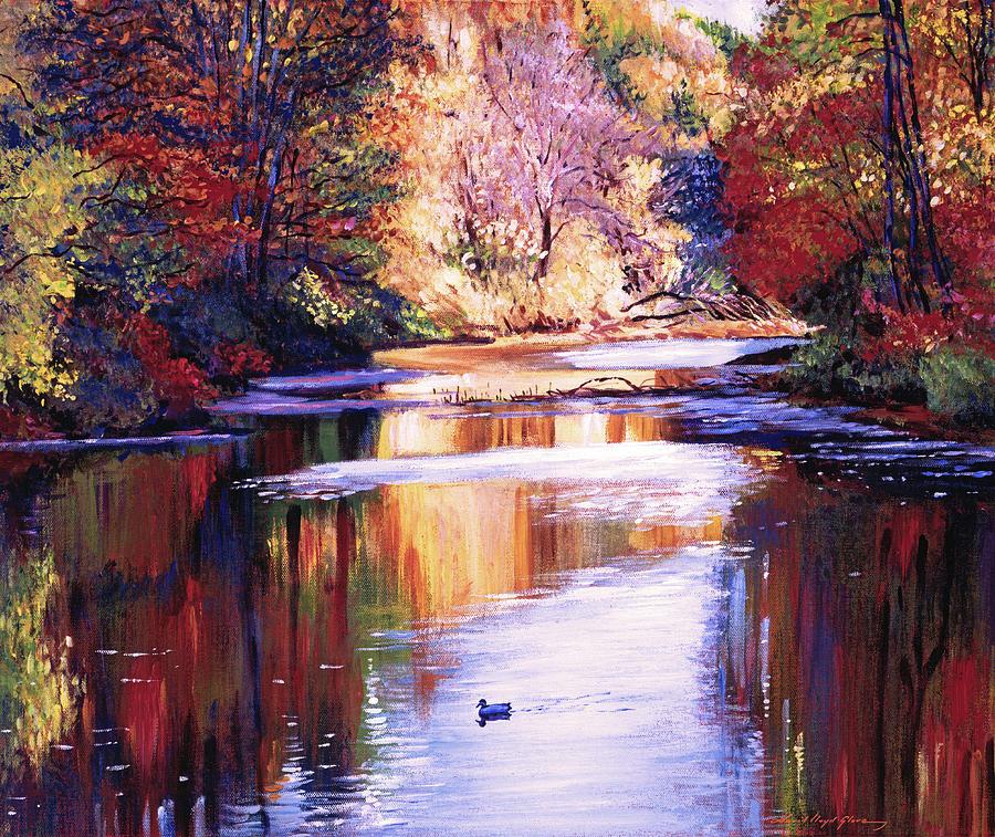GENTLE RIVER IN AUTUMN by David Lloyd Glover