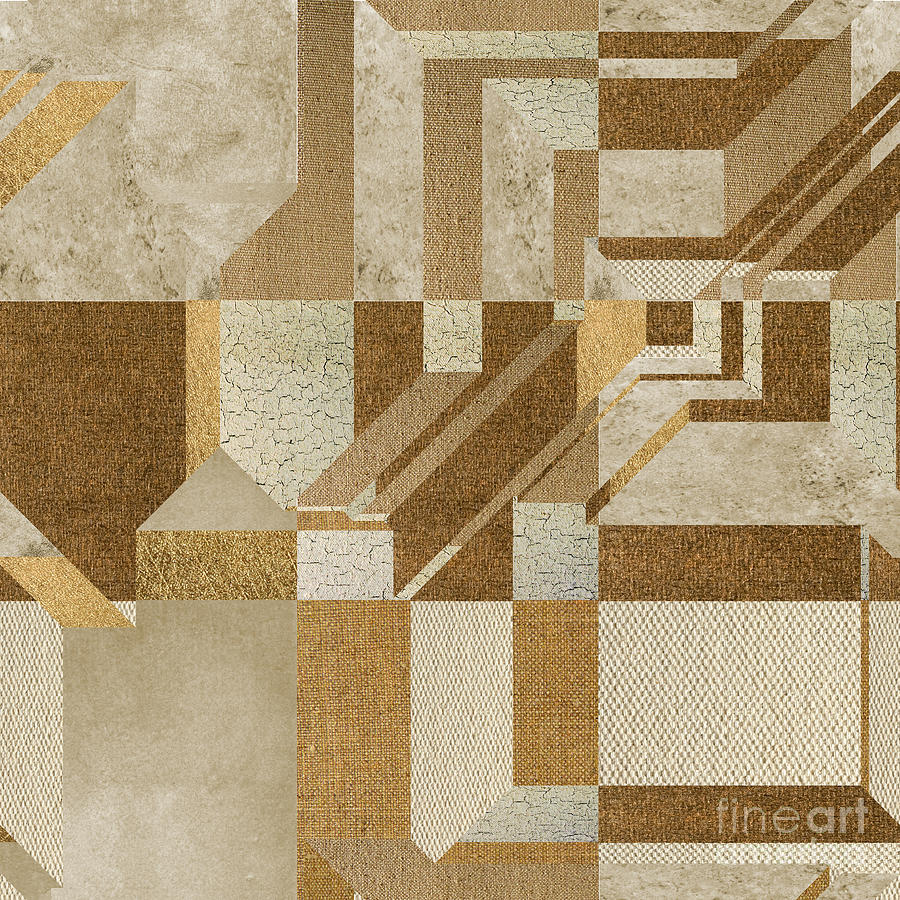 Geometric Digital Art - Geoart - S10ci3g by Variance Collections