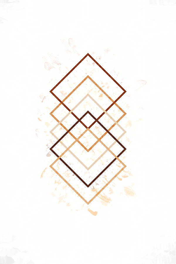 Geometric Abstract #minimalist 2 by Andrea Anderegg