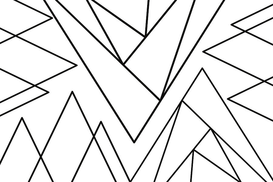 Geometric Abstract #minimalist by Andrea Anderegg