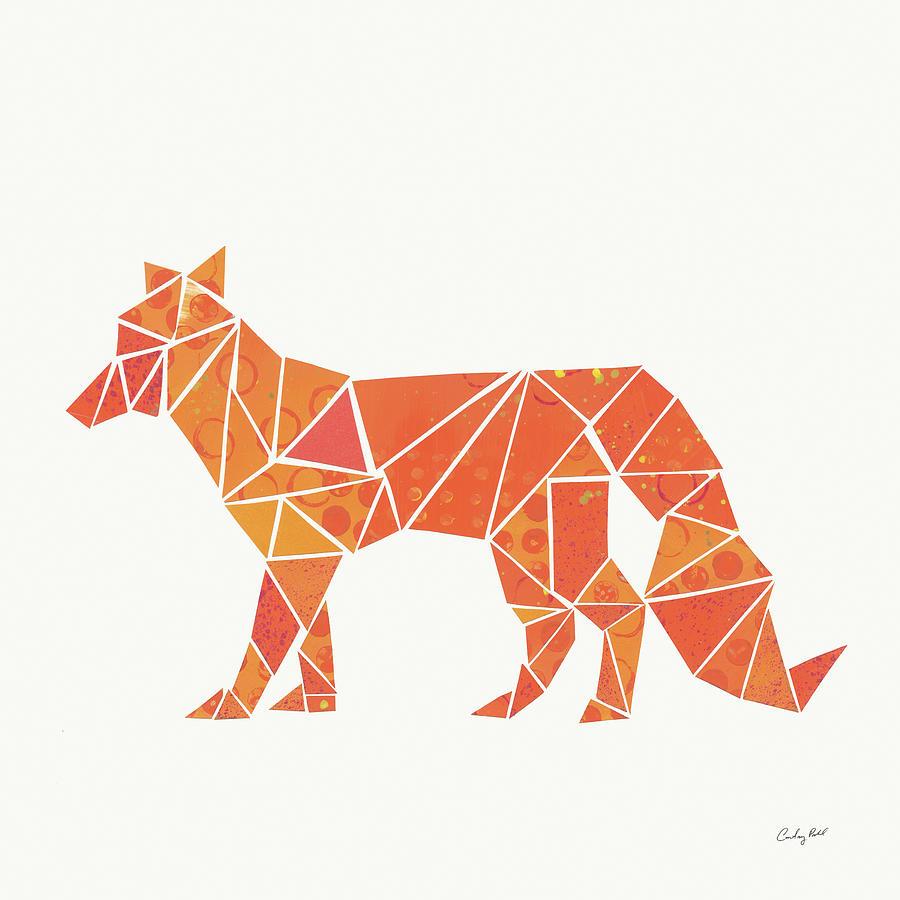Animals Painting - Geometric Animal II by Courtney Prahl