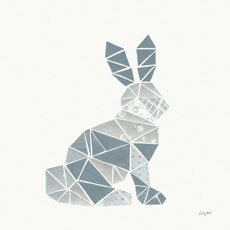 Animals Painting - Geometric Animal IIi by Courtney Prahl