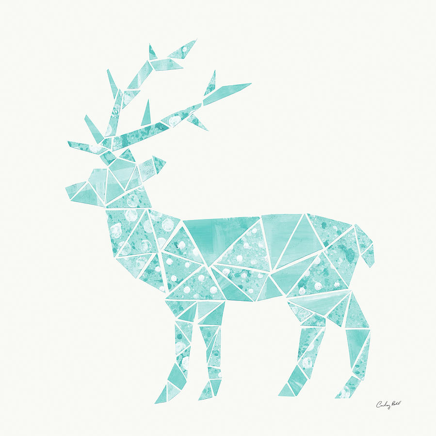 Animals Painting - Geometric Animal Iv by Courtney Prahl