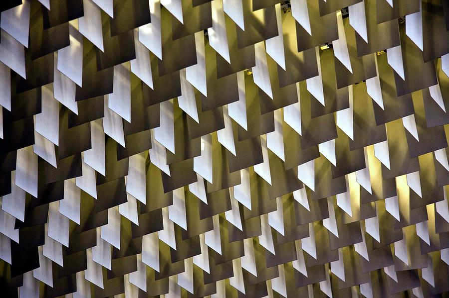Ceiling Photograph - Geometric Ceiling by Gerard Hermand