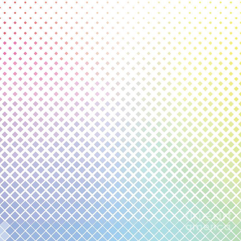 Rhombus Digital Art - Geometric Color Rhombus Pattern by Etcberry