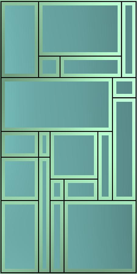 Geometric Composition With Lines, Geometric Shapes And Bright Backligt. Digital Art