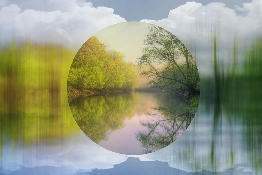 Geometric Dream Landscape by Debra and Dave Vanderlaan