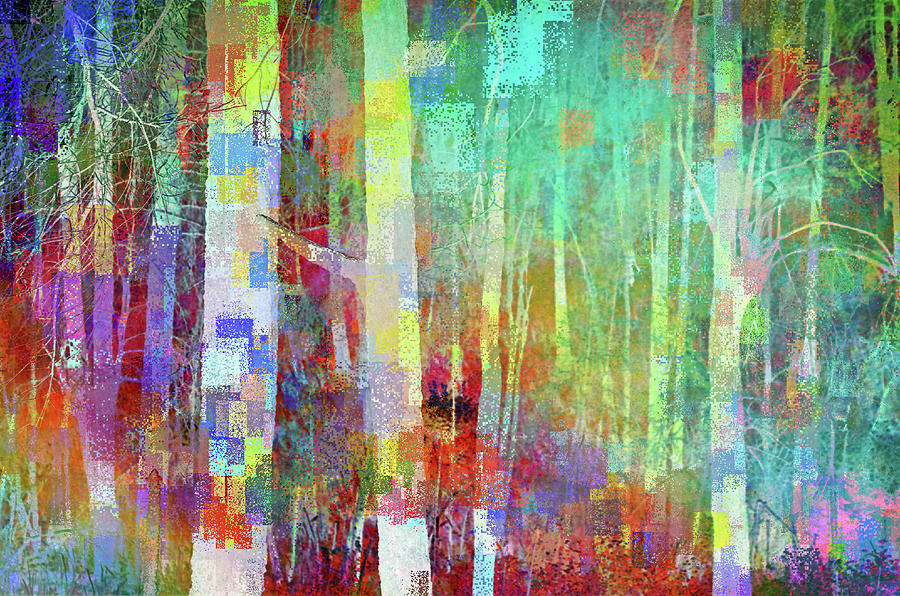 Tree Digital Art - Geometric Forest by Tara Turner