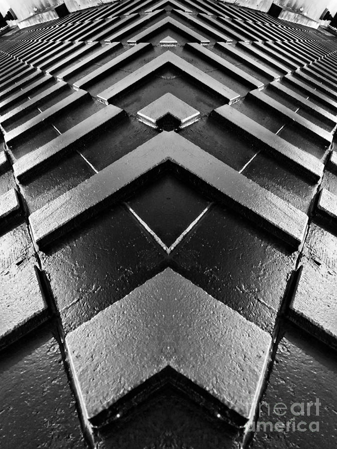 Justin Moore Photograph - Geometric Night  by Justin Moore