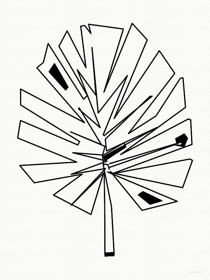 Modern Digital Art - Geometric Palm Leaf- Art By Linda Woods by Linda Woods