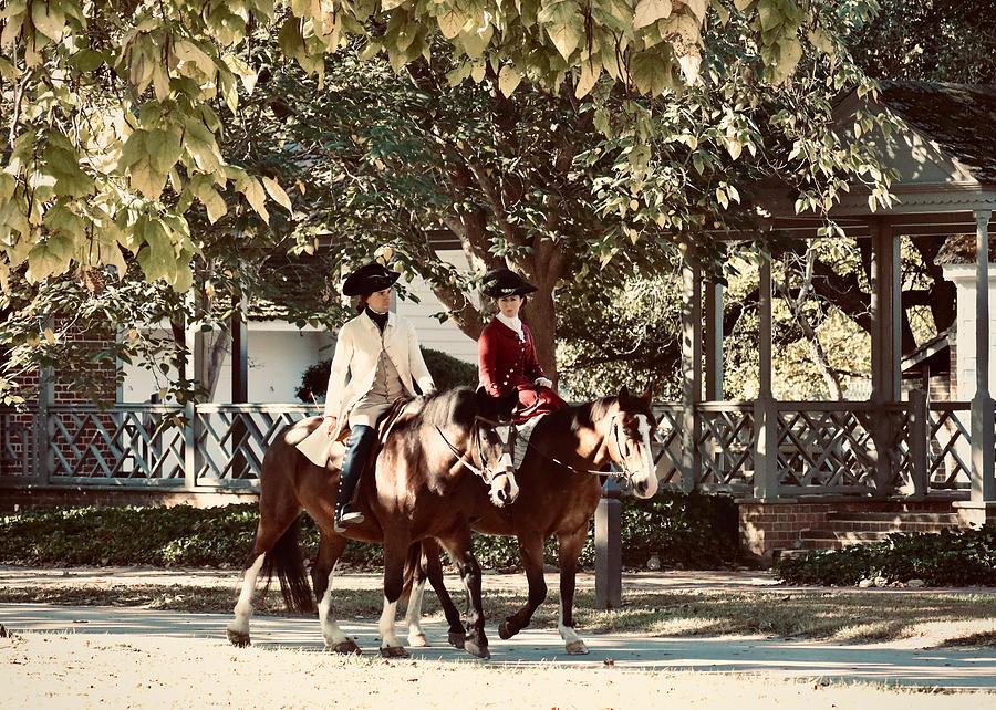 George and Martha Washington in Colonial Williamsburg by Rachel Morrison