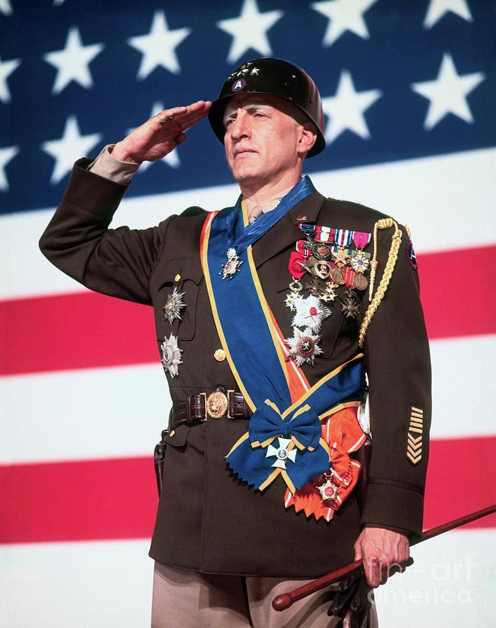 George C. Scott As Patton Photograph by Bettmann