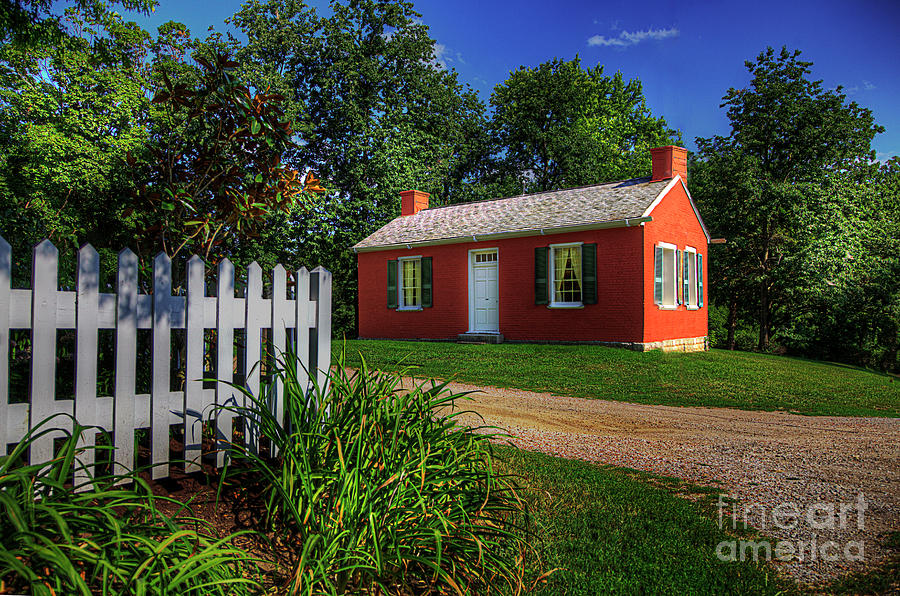 Travel Photograph - George Caleb Bingham House  by Larry Braun