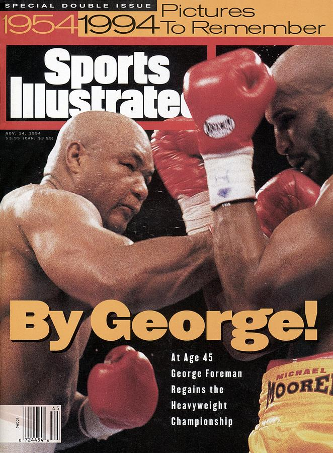 George Foreman, 1994 Wba Worldibf Heavyweight Title Sports Illustrated Cover Photograph by Sports Illustrated