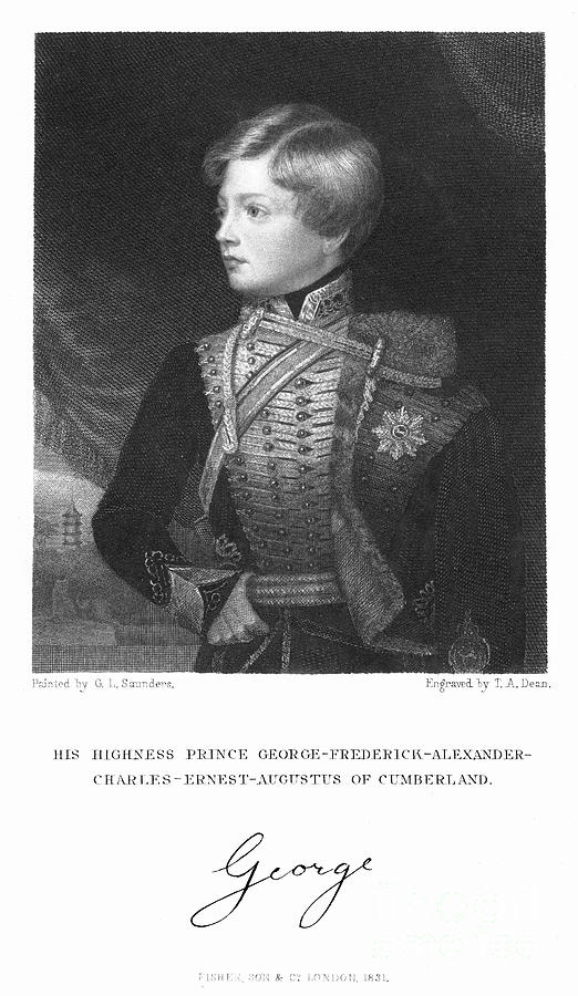George Frederick Alexander Charles Drawing by Print Collector