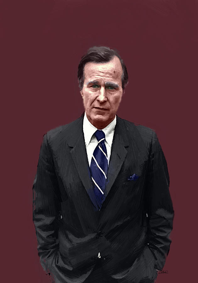George H W Bush - DWP1909041 by Dean Wittle