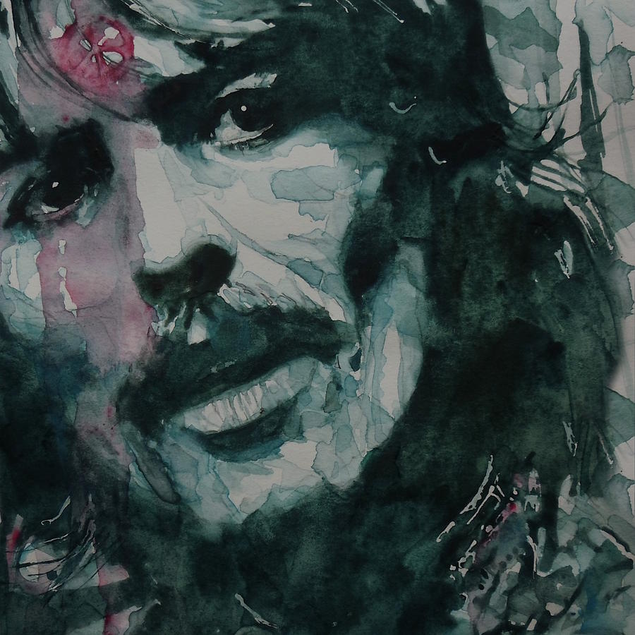 The Beatles Painting - George Harrison - All Things Must Pass by Paul Lovering