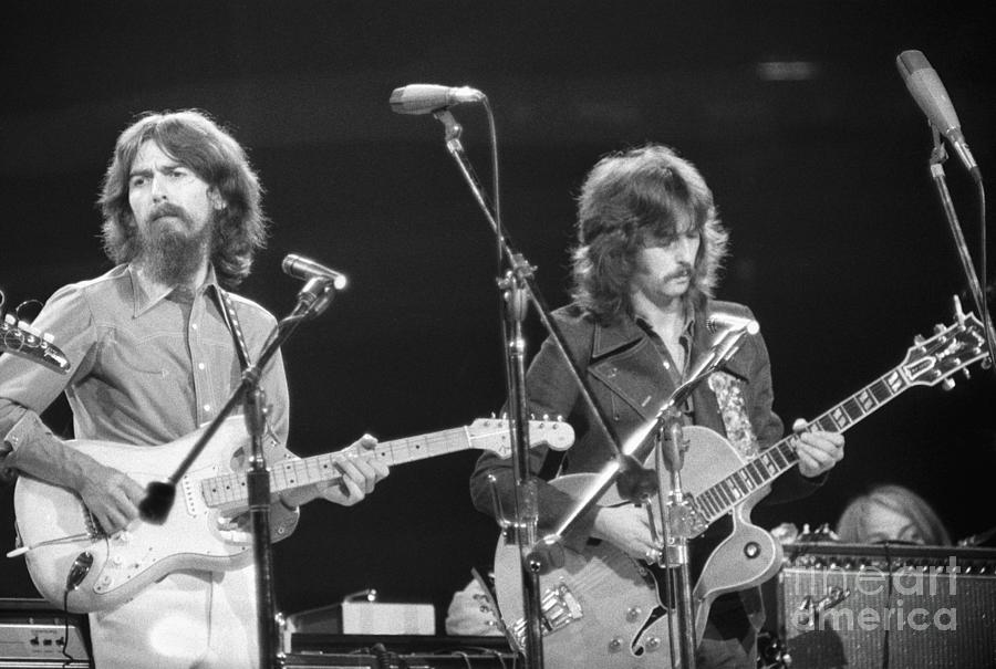 George Harrison And Eric Clapton Photograph by Bettmann