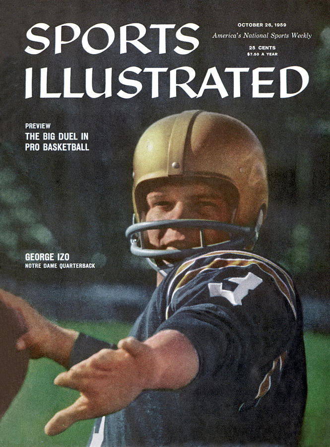 George Izo Notre Dame Quarterback Sports Illustrated Cover Photograph by Sports Illustrated
