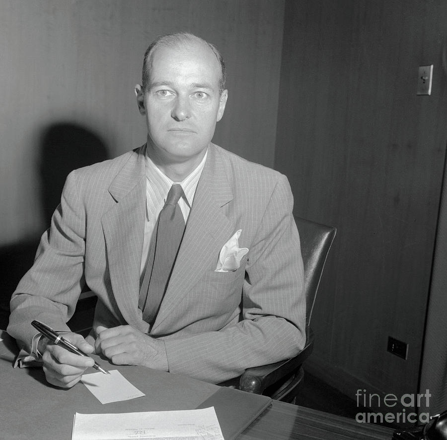 George Kennan Writing At Desk Photograph by Bettmann