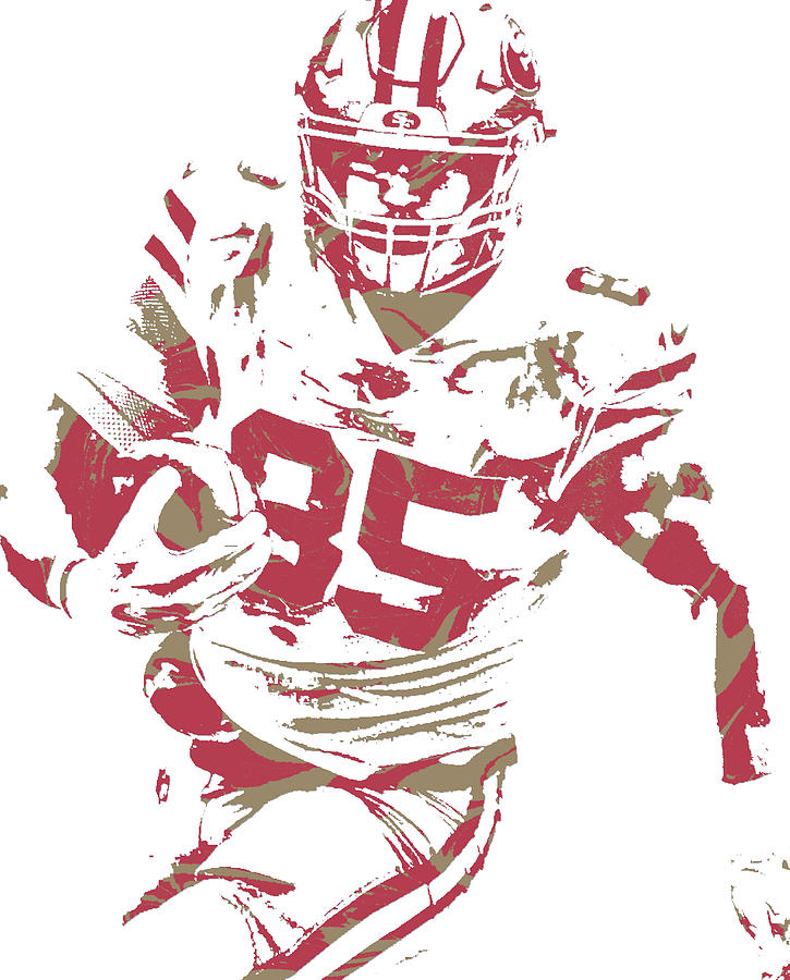 George Kittle San Francisco 49ers Pixel Art 2