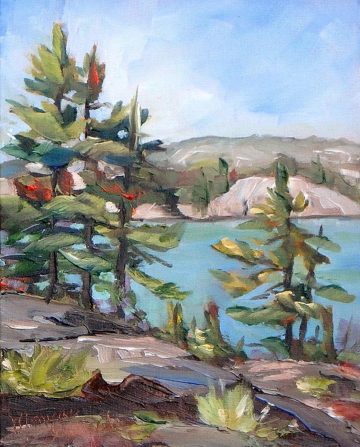 Original Painting - George Lake by Monica Ironside