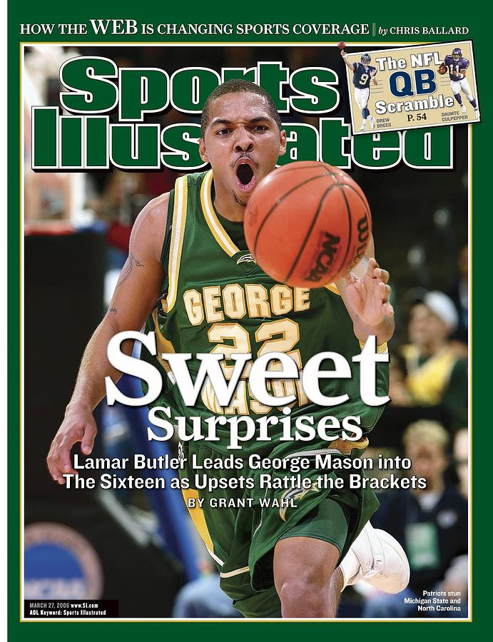 George Mason Lamar Butler, 2006 Ncaa Playoffs Sports Illustrated Cover Photograph by Sports Illustrated