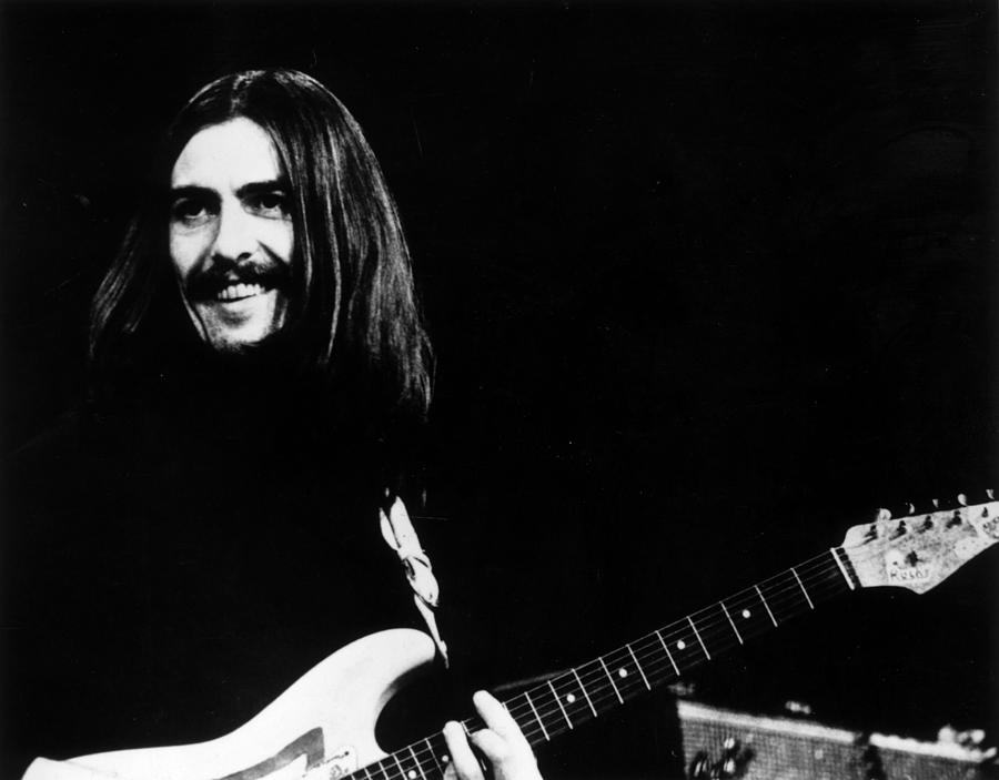 George Harrison Photograph - George On Stage by Keystone