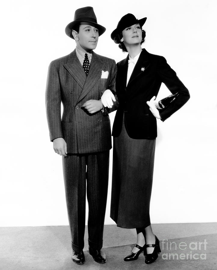 George Raft Photograph - George Raft - Rosalind Russell - It Had to Happen - 1936 by Sad Hill - Bizarre Los Angeles Archive