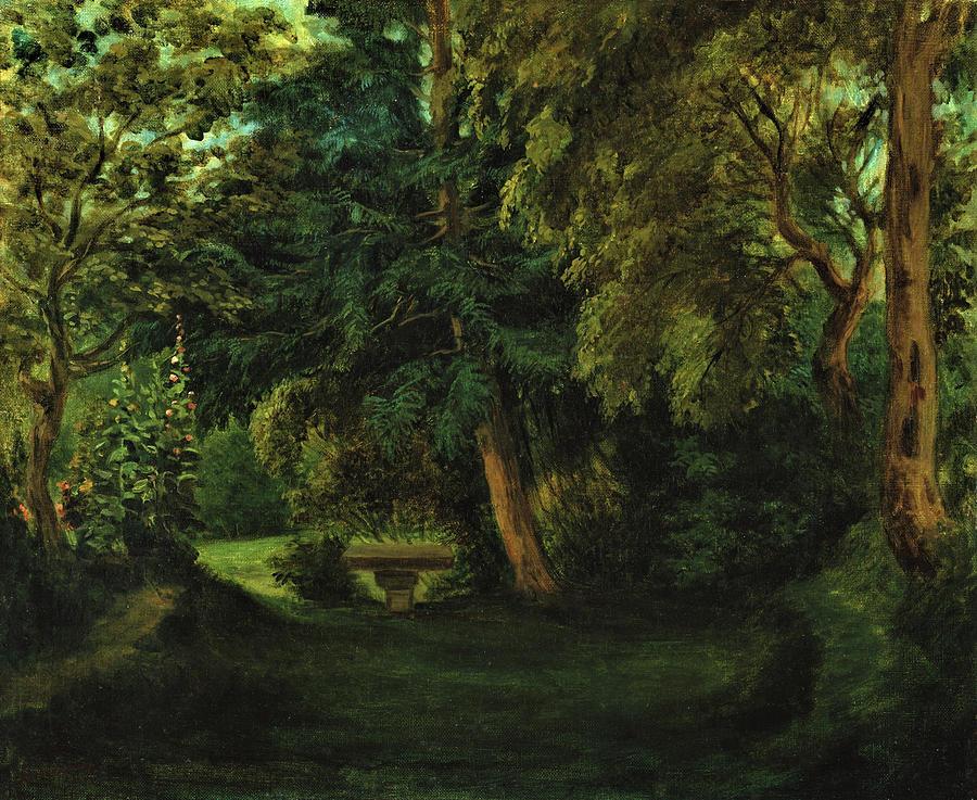 Eugene Delacroix Painting - George Sands Garden At Nohant - Digital Remastered Edition by Eugene Delacroix