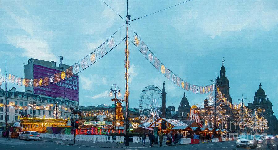 George Square Christmas Market Glasgow by Liz Leyden