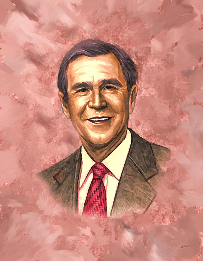 George W Bush - DWP1909043 by Dean Wittle