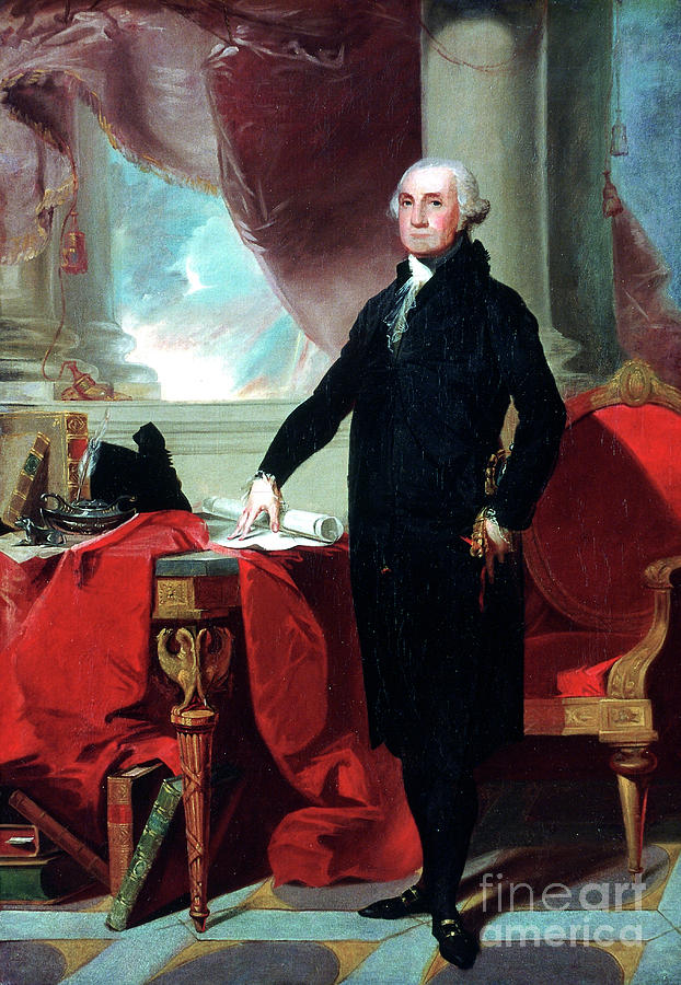 George Washington 1732-99, 1796. Artist Drawing by Print Collector