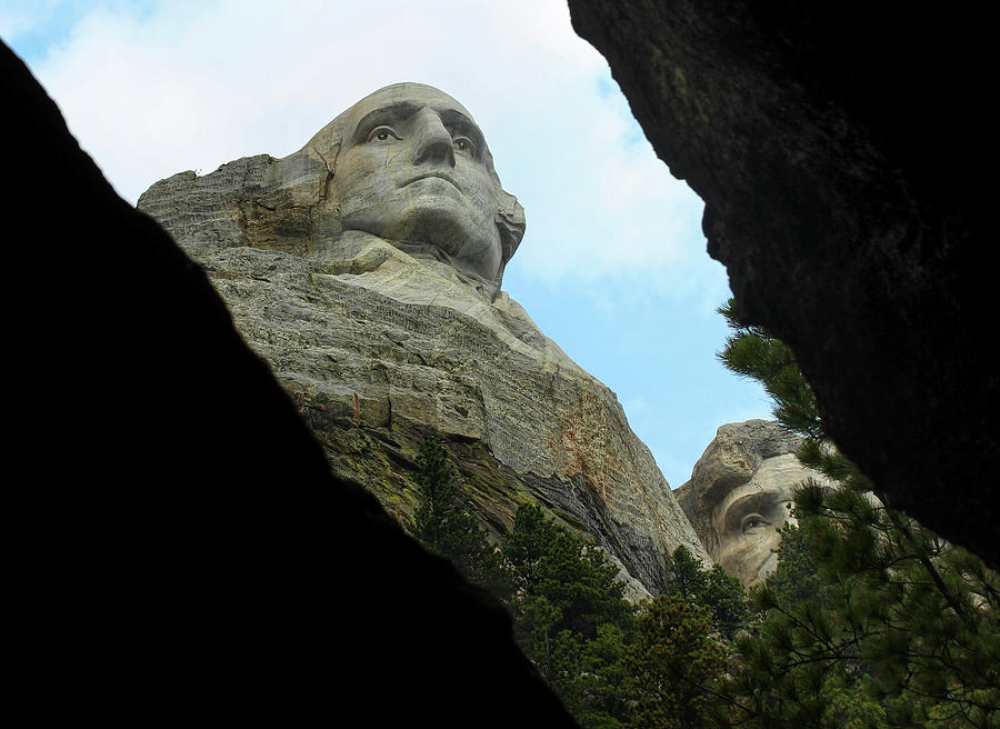 George Washington at Mount Rushmore  by Robert Blandy Jr