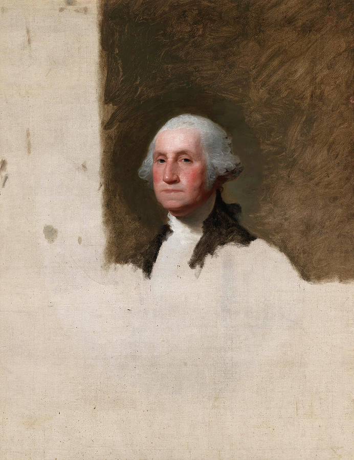 Gilbert Stuart Painting - George Washington, The Athenaeum Portrait, 1796 by Gilbert Stuart