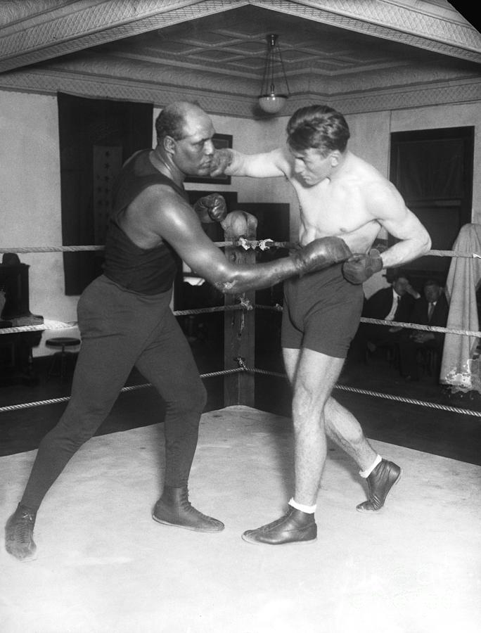 Georges Carpentier Sparring With Joe Photograph by Bettmann