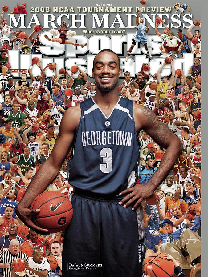 Georgetown University Dajuan Summers, 2008 Ncaa Tournament Sports Illustrated Cover Photograph by Sports Illustrated