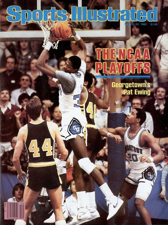 Georgetown University Patrick Ewing, 1982 Ncaa West Sports Illustrated Cover Photograph by Sports Illustrated