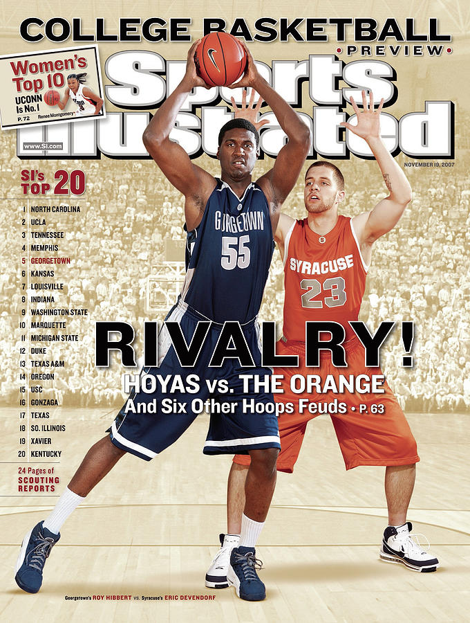 Georgetown University Roy Hibbert And Syracuse University Sports Illustrated Cover Photograph by Sports Illustrated