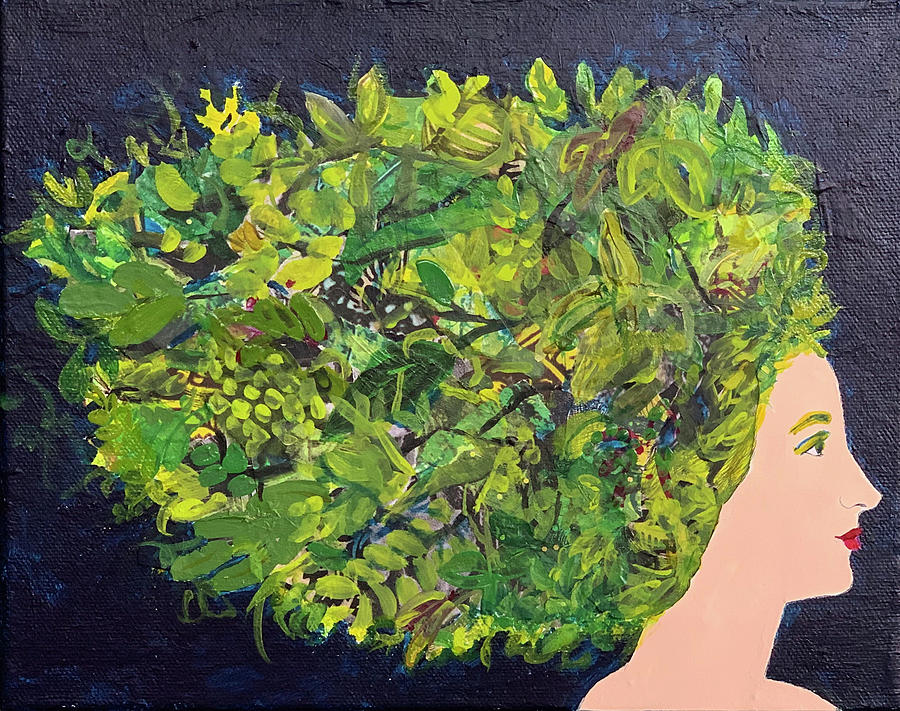 Profile Mixed Media - Georgette Had An Enviable Green Thumb by Donna Stubbs