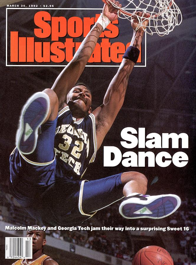 Georgia Tech Malcolm Mackey, 1992 Ncaa Midwest Regional Sports Illustrated Cover Photograph by Sports Illustrated