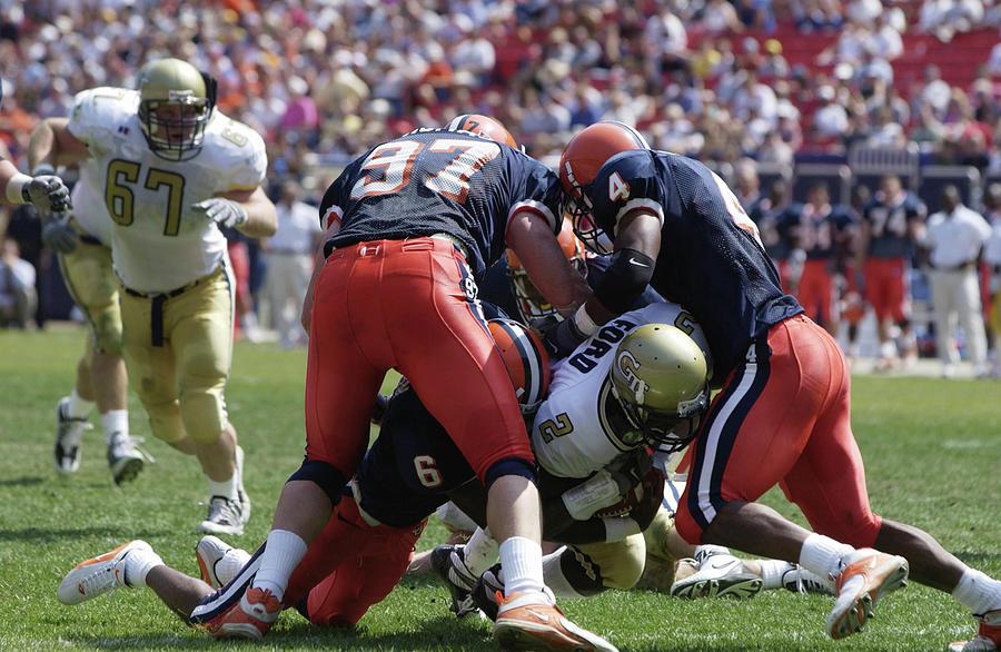 Georgia Tech V Syracuse X Photograph by Ezra Shaw