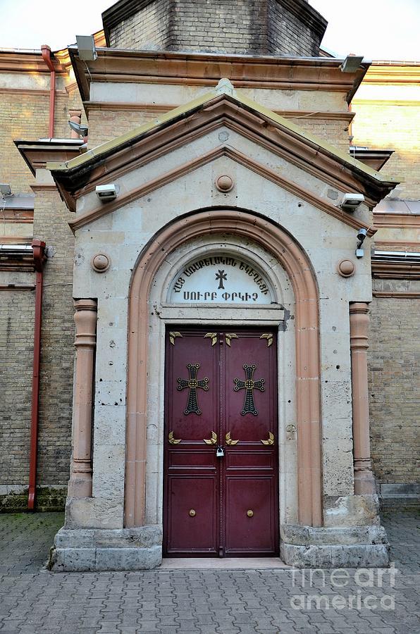 Georgian orthodox Church door entrance Batumi Georgia by Imran Ahmed