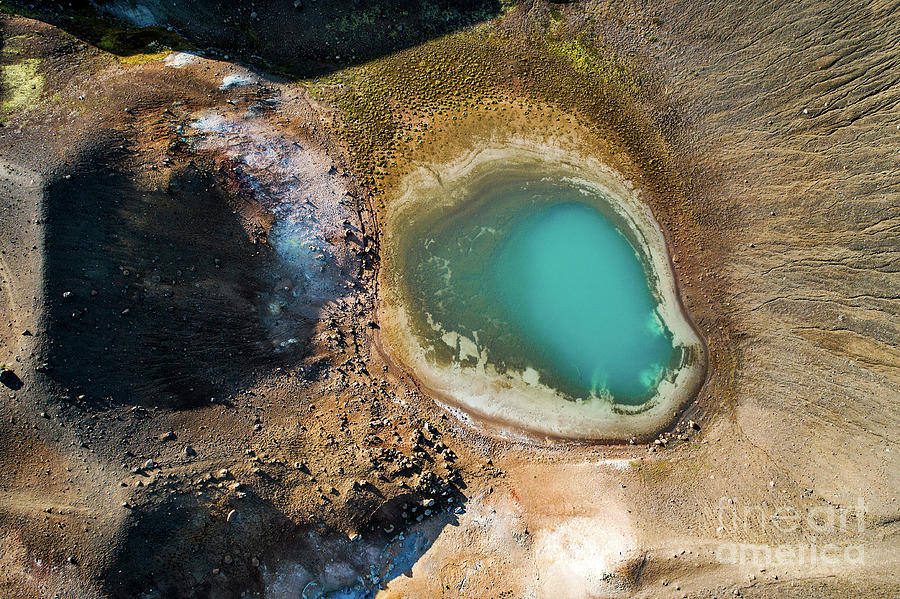 Lake Photograph - Geothermal Area And Lake by Michael Szoenyi/science Photo Library