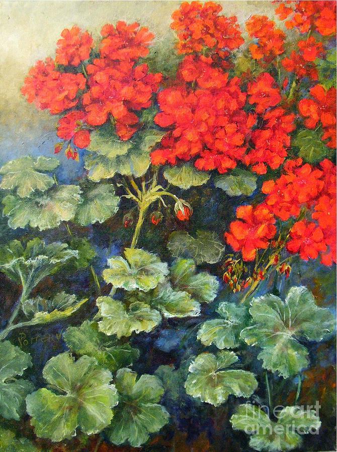 Geraniums by Virginia Potter